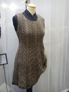 #A dress made with Lang Yak yarn on the H H fair 2012  Skirt Knit  #2dayslook #SkirtKnit #fashion #new  www.2dayslook.nl