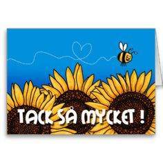 tack så mycket (Swedish Thank you card) - Artwork designed by cfkaatje