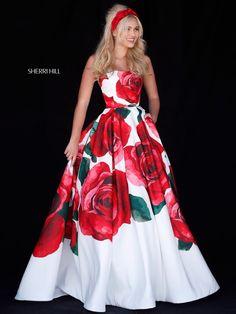 5a128aff686 Sherri Hill A Line Halter Dress 52084 in 2019