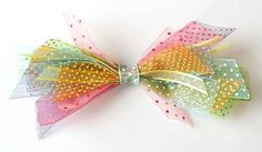 What to do with scraps of ribbon? ... make a simple pretty ribbon hair bow...