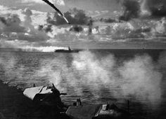June 19,  1944: US DEFEATS JAPAN AT THE BATTLE OF THE PHILIPPINE SEA  -   During World War II, the two-day Battle of the Philippine Sea begins, resulting in a decisive victory for the Americans over the Japanese.