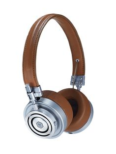 MH30 On Ear Headphone - the Mobile Thinking Cap in brown leather/silver metal by @masterdynamic