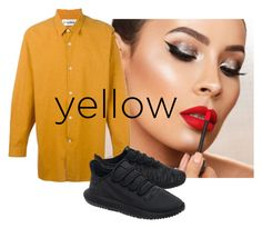 """""""YELLOW DRESS"""" by zenaninarnie on Polyvore featuring Études and adidas Originals Yellow Dress, Adidas Originals, Shoe Bag, Polyvore, Stuff To Buy, Shopping, Collection, Dresses, Design"""
