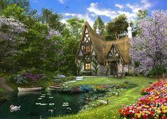 Spring Lake Cottage by Dominic Davison