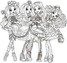 Free Printable Ever After High Coloring Pages: Ever After High Coloring Sheet