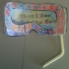 "This one is backwards but oh well. For our under the sea unit. ""What I see under the sea"" book. Have students cut color the goggles and cut out the inside part. Laminate so it is see through. Next is cover page then on the next pages students draw or use stickers of what sea creatures. On each page they write ""I see a ___."" staple a bendy straw and voila! They loved it. Sea Activities, Camping Activities, Under The Sea Theme, Under The Sea Party, Ocean Unit, Student Drawing, Rainbow Fish, Thematic Units, Sea Art"