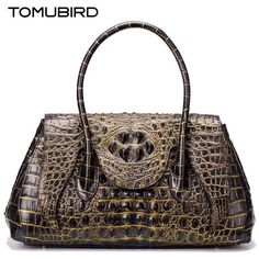 161.24$  Buy now - http://ali9vo.worldwells.pw/go.php?t=32790723217 - TOMUBIRD new superior genuine leather handbags  brand women bag Embossed Crocodile  Designer tote bag Leather shoulder bag 161.24$