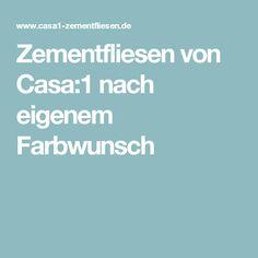 Zementfliesen von Casa:1 nach eigenem Farbwunsch