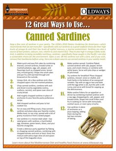 Yup, gotta start eating these nutrition-packed fishes! Sardines: fabulous little fish that we often wonder how to prepare. To help, Oldways has created a new resource that offers 12 great ways to prepare sardines! Fish Recipes, Seafood Recipes, Paleo Recipes, Cooking Recipes, What's Cooking, Fish Dishes, Seafood Dishes, Fish And Seafood, Sardine Recipes Canned