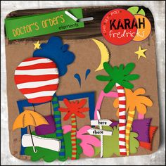 Designer Karah Fredricks--Digital scrapbooking Dr. Suess things on sale!!!
