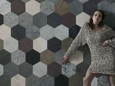 Slate wall tiles / flooring PALETTE ORIGAMI ATELIER I Neutri Collection by ARTESIA® / International Slate Company   design Francesca Dondero