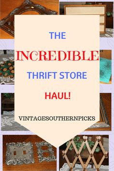 Incredible thrift store haul of vintage finds...see what sells for me in my Etsy shop! via @VSPicks