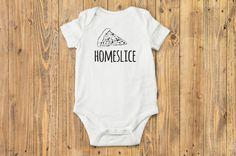 Homeslice Pizza Baby Onesie® Boho Baby Clothes by BittyandBoho