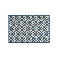 Safavieh Courtyard Geometric Indoor Outdoor Rug, Blue
