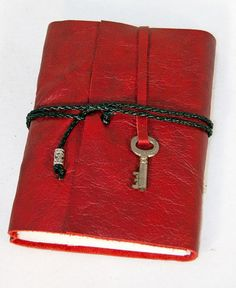 Bound by Hand Handmade Leather Journal or Sketchbook with Key