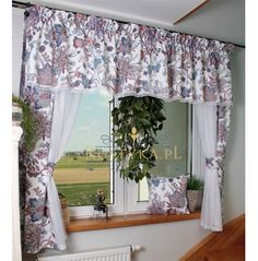 Komplet boki lambrekin gipiura woal Valance Curtains, Shabby Chic, Home Decor, Deck Curtains, Cute Good Morning Pictures, Net Curtains, Youth Rooms, Cover, Houses