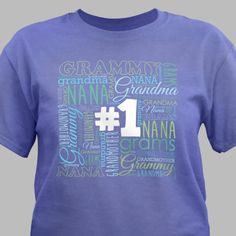 Personalized #1 Grandma Violet T-Shirt - Gifts Happen Here