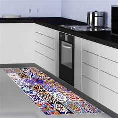 floorart - Tapis en vinyle 50x120cm [Collage]