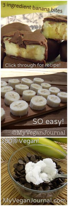 3 Ingredient Frozen Banana Bites Recipe! 100% Vegan and doesn't have palm oil in it like the ones at Trader Joe's! YUM!!