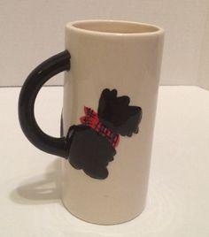 #Black #ScottishTerrier #Scotty #Dog #Scottie #DogMug #Red #Plaid #Bandana #MSRFInc