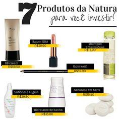 Selecionei 7 produtos da Natura que você precisa investir e conhecer melhor. São produtos que eu amo da marca e sempre que acaba eu compro de novo.