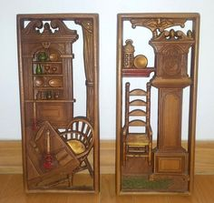 Vintage Multi Products Early American Grandfather Clock Wall Hanging Decor