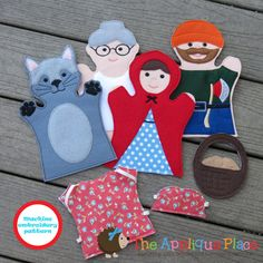 PATTERN Set of 4  LiTTLe ReD RiDiNG HooD  Hand by TheAppliquePlace