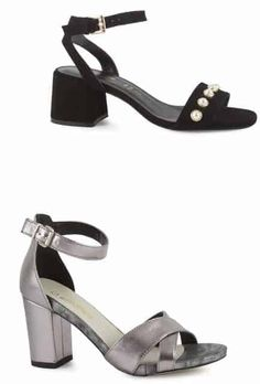 Sandale Damă Negre si Gri cu Talpă Medie | Medium-heeled Black and Grey sandals for women - alizera Casual, Shopping, Shoes, Fashion, Moda, Zapatos, Shoes Outlet, La Mode, Fasion