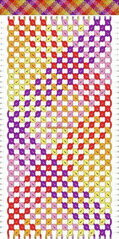 friendship bracelet patterns | Patterns - Normal - Friendship Bracelet Pattern #1672