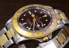 d097121a04fa  ROLEX  Ref.1675  GMT master YG SS  1971y