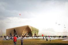 "Milan Expo 2015: X-TU Designs Latticed ""Fertile Market"" for French Pavilion"