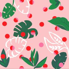 Spotted Tropica - Bella Gomez - I am an illustrator and surface pattern designer working from my studio in Lewes, near Brighton along the south coast of England. Pretty Designs, Pretty Patterns, Beautiful Patterns, Motifs Textiles, Textile Prints, Textures Patterns, Color Patterns, Surface Art, Plant Illustration