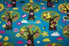 Lillestoff Appletree Eulen Owls Blumen Käfer  Eichhörnchen BIO Jersey Meterware