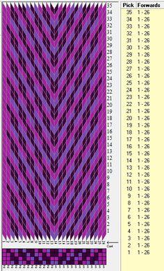26 tarjetas, 3 colores// sed_724 diseñado en GTT༺❁ Inkle Weaving, Inkle Loom, Card Weaving, Weaving Art, Tablet Weaving Patterns, Loom Patterns, Art Tablet, Iris Folding Pattern, Finger Weaving
