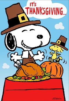 Peanuts® Snoopy and Woodstock Feast Thanksgiving Card