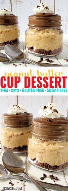 Peanut Butter Cup Dessert • THM S • Keto • GF • SF via @TJsTaste