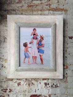 Whitewash Portrait Frame – Delta Girl Frames