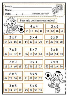Mental Maths Worksheets, First Grade Math Worksheets, Math Games, Math Activities, Math Charts, Math School, Math Multiplication, Math Notebooks, Math For Kids