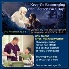 """""""Keep On Encouraging One Another Each Day"""" (w16 November pp.4-8)"""