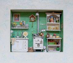 Cuadro Cocina con miniaturas