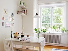 white interior. sweden dining room