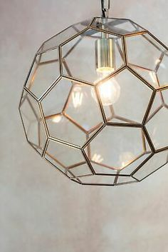 Zola Ceiling Light Pendant Antique Brass + Hexagon Glass Panels Dia: 37cm  | eBay Hallway Lamp, Hallway Lighting, Shop Lighting, Hallway Ceiling Lights, Brass Pendant Light, Brass Lamp, Pendant Lighting, Conservatory Lighting, Suspended Ceiling Lights