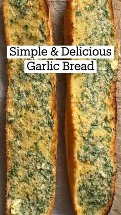 Fun Baking Recipes, Cooking Recipes, Good Food, Yummy Food, Tasty, Appetizer Recipes, Appetizers, Garlic Bread, Diy Food