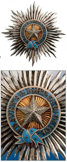 Order of the Star of India Knight Commander's Set. Neck Badge, 80x50 mm and Breast Star 85 mm. Breast Star.
