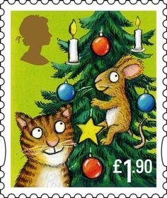 POSTAGE STAMP: Royal Mail's stamps for Christmas 2012 by children's book illustrator, Alex Scheffler. Royal Mail Stamps, Uk Stamps, Love Stamps, Charley Harper, Arthur Rackham, Christmas Design, Vintage Christmas, Christmas Mail, Christmas Post