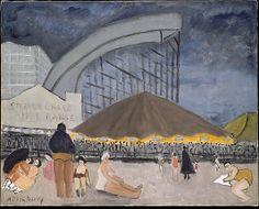 Milton Avery (American, 1885–1965). The Steeplechase, Coney Island, 1929. The Metropolitan Museum of Art, New York