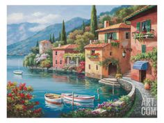 Villagio Dal Lago Print by Sung Kim at eu.art.com