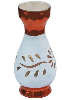 Bulk Wholesale Handmade Ceramic Flower Vase – Hand-Painted Metallic Copper-Tone & White Floral Motif Art Vase – Home Decor Ceramic Flowers, Metal Flowers, Flower Vases, Flower Pots, India Home Decor, Home Decor Vases, Soapstone, Handmade Ceramic, Handmade Home Decor