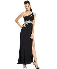 Hailey Logan by Adrianna Papell Juniors' Rhinestone-Studded Dress