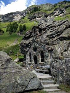 church carved inside a rock, Austria